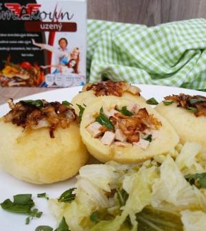 Šmakoun - plněné bramborové knedlíky
